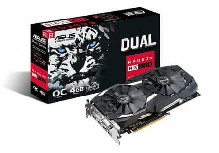 Asus grafična kartica Radeon RX 580 OC DUAL, 4GB GDDR5, PCI-E 3.0 (DUAL-RX580-O4G)