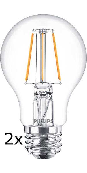 Philips Filament Classic Ledbulb 4-40W A60 E27, 2 ks