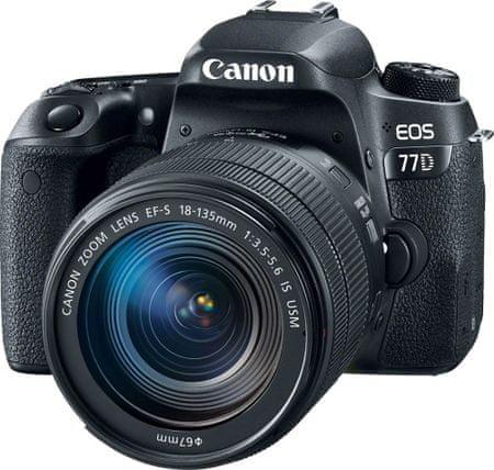 Canon zrcalno refleksni fotoaparat EOS 77D + objektiv EF-S 18-135 mm
