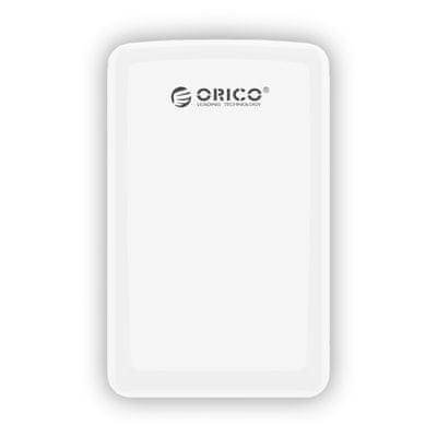 """Orico zunanje ohišje za HDD/SSD 6,35 cm (2,5"""") USB 3.0, SATA3, bela"""