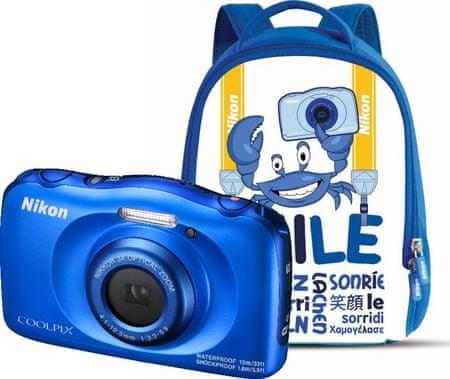 Nikon Coolpix W100 Backpack Kit Blue
