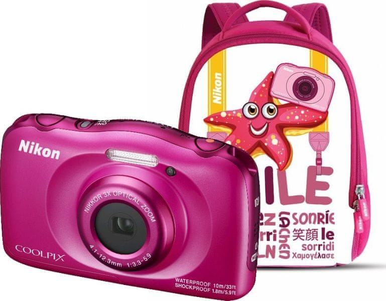 Nikon Coolpix W100 Backpack Kit Pink