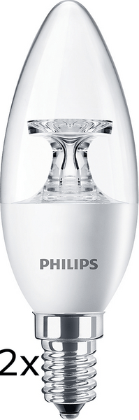 Philips CorePro Ledcandle 5,5-40W E14 827 B35 CL ND 2 ks