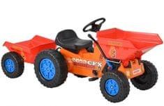 Hecht 51412 - Pedálos traktor utánfutóval