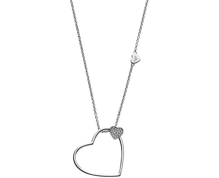 Emporio Armani Romantický ocelový náhrdelník EGS2314040