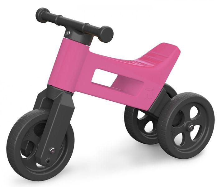 Teddies Odrážedlo Funny Wheels 2v1 růžová