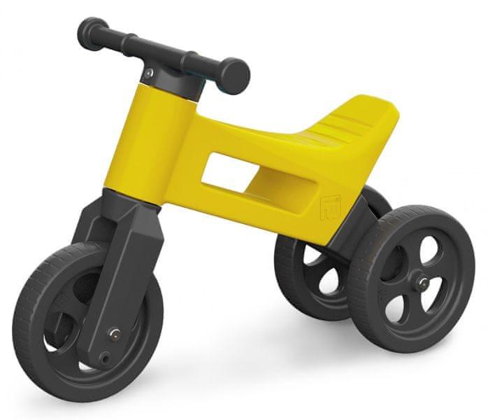 Teddies Odrážedlo Funny Wheels 2v1 žlutá