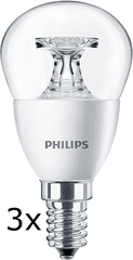 Philips CorePro Ledluster 4-25W E14 827 P45 CL ND, 3 szt.