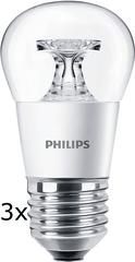 Philips CorePro Ledluster 4-25W E27 827 P45 CL ND 3 ks