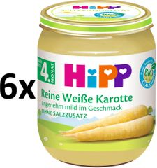HiPP BIO Bílá mrkev - 6 x 125g
