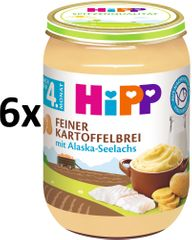 HiPP Jemná zemiaková kaša s aljašskou treskou - 6 x 190g