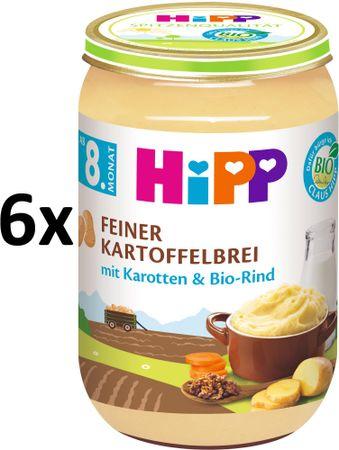 HiPP BIO Jemná zemiaková kaša s mrkvou a hovädzím mäsom - 6 x 220g