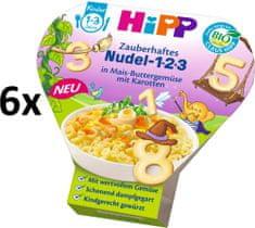 HiPP BIO Těstoviny 123 s kukuřicí, zeleninou a mrkví - 6 x 250g