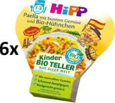 HiPP BIO Paella se zeleninou a kuřecím masem - 6 x 250g
