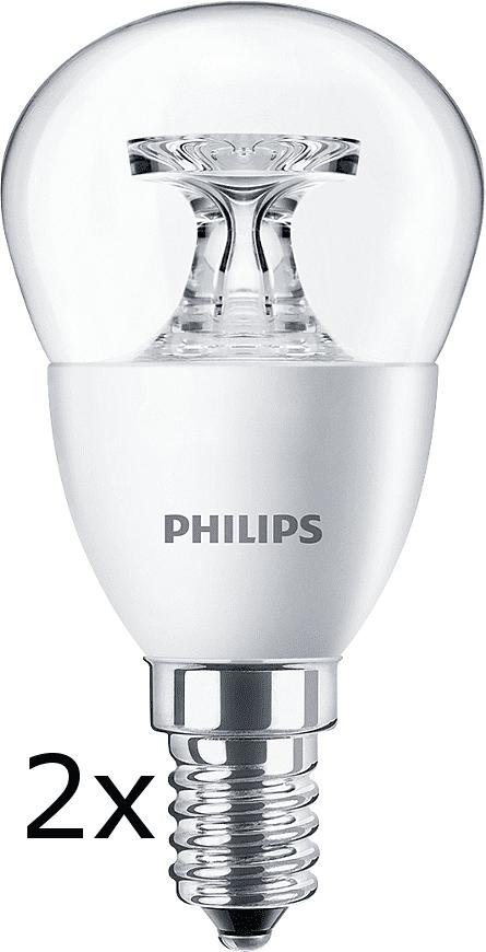 Philips CorePro Ledluster 5,5-40W E14 827 P45 CL ND 2 ks