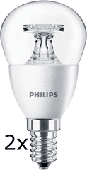 Philips CorePro Ledluster 5,5-40W E14 827 P45 CL ND 2 ks