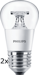 Philips CorePro Ledluster 5,5-40W E27 827 P45 CL ND, 2 szt.