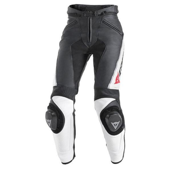 Dainese kalhoty dámské DELTA PRO C2 PELLE LADY vel.40 černá/bílá, kůže
