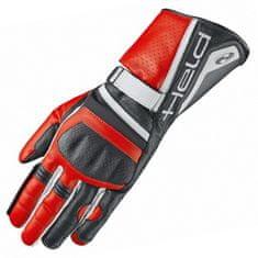 Held športové moto rukavice  AKIRA EVO čierna/červená, klokanej kože
