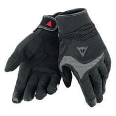 Dainese skúter rukavice  DESERT Poon D1 UNISEX čierna/sivá, textil (pár)