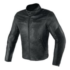 Dainese pánská kožená moto bunda  STRIPES D1 černá