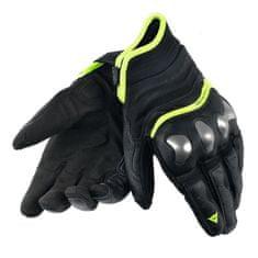 Dainese pánské kožené moto rukavice  X-RUN černá/fluo-žlutá
