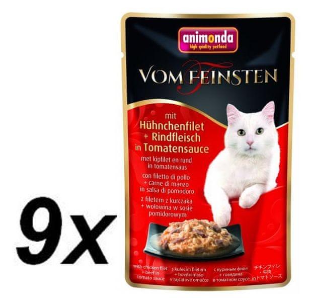Animonda VF kapsička kuřecí filet+hovězí maso v rajčatové omáčce 9 x 50 g