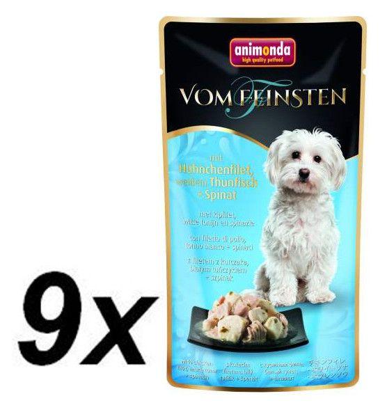 Animonda VF kapsička - kuřecí filet,bílý tuňák+špenát pro psy 9 x 100g