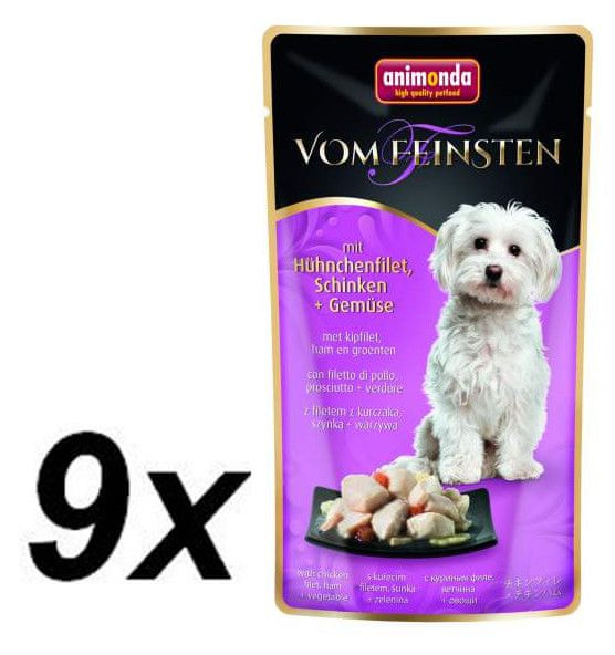 Animonda VF kapsička - kuřecí filet, šunka + zelenina pro psy 9 x 100g
