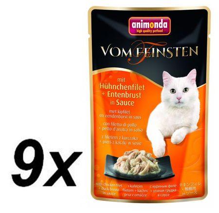 Animonda VF kapsička kuřecí filet + kachní prsa v jemné omáčce 9 x 50 g