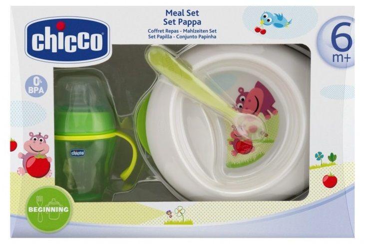 Chicco Jídelní set 6m+ (miska, lžička, hrneček)
