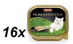 Animonda VF pašteta za mačke, govedina, losos, špinača 16 x 100g