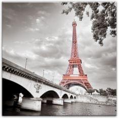 TORO Obraz 58 x 58 cm, Eiffelova veža