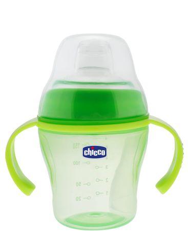 Chicco Kubek niekapek Soft 6m+, zielony