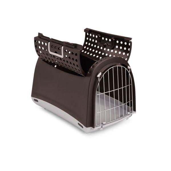 Argi Přepravka pro kočky a psy Cabrio hnědá