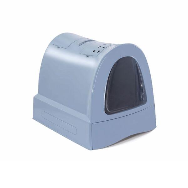 Argi Krytý kočičí záchod s výsuvnou zásuvkou pro stelivo modrá