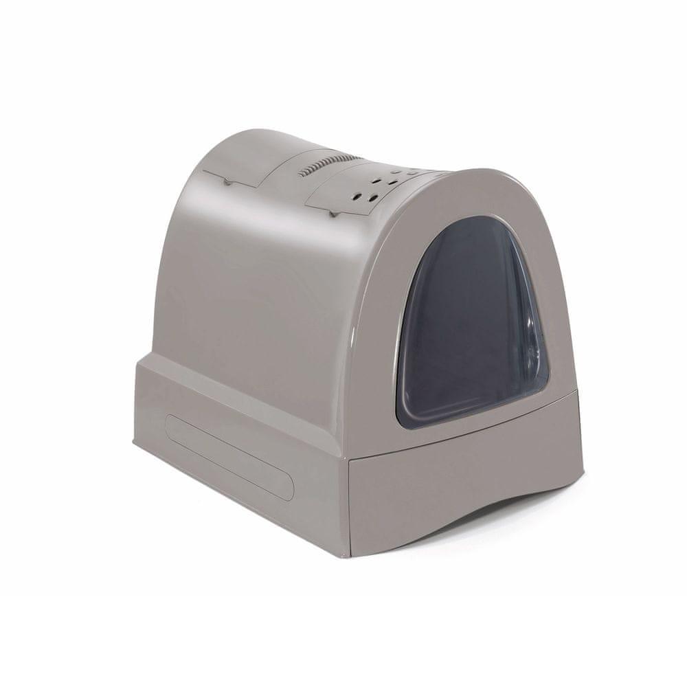 IMAC Krytý kočičí záchod s výsuvnou zásuvkou pro stelivo šedá