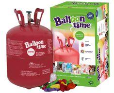 Helium Ballon Time do balónků - jednorázová nádoba 250 l + 30 latexových balónků