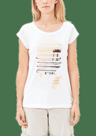 s.Oliver T-shirt damski 42 biały