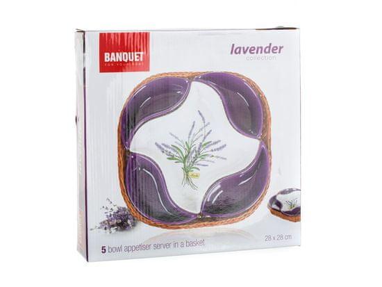 Banquet Lavender pet delna posoda