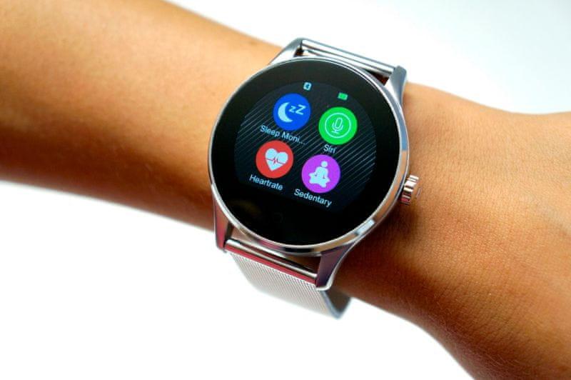 Carneo Smart hodinky Manager - stříbrné