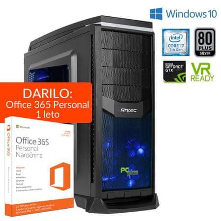 PCplus namizni računalnik Dream Machine i7-7700/16GB/2TB+240GB/GTX1060/Win10 + Office 365 Personal (1 leto)