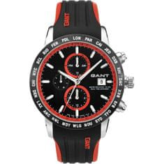 Gant Globetrotter Black/Red - Rubber W11101