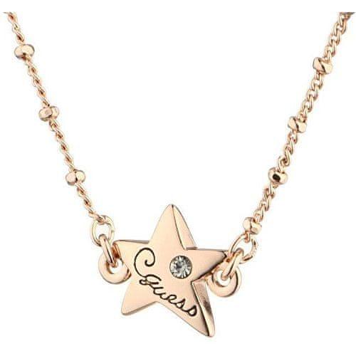 Guess Bronzový náhrdelník s hvězdičkou UBN81087