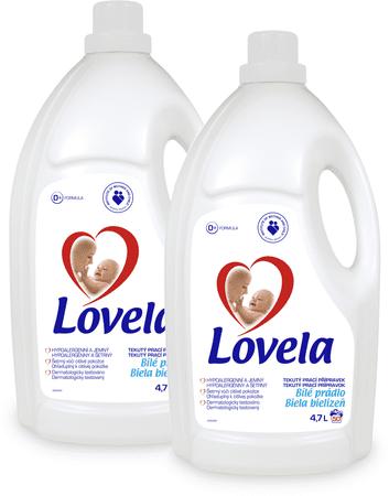 Lovela Folyékony mosószer fehér ruhákhoz, 4,7l