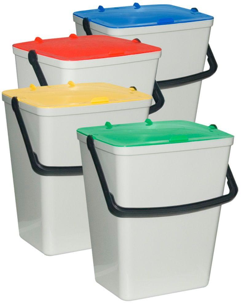 ArtPlast Odpadkové koše na tříděný odpad 4x 15 l
