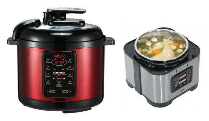 Elektrické tlakové hrnce při vaření neupouští páru.