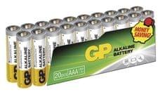 GP Alkalické baterie (AAA), 20 ks