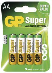 GP Alkalické baterie GP Super (AA), 4 ks