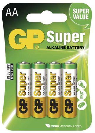 GP Alkalické batérie GP Super (AA), 4 ks